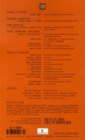 Revue Des Deux Mondes ; Proust Vu D'Amérique - 4ème de couverture - Format classique