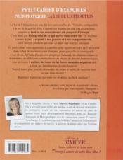 Petit Cahier D'Exercices ; Sur La Loi D'Attraction - 4ème de couverture - Format classique