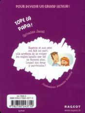 Tope là papa ! - 4ème de couverture - Format classique