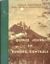 Quinze Jours En Europe Centrale - Couverture - Format classique