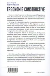 Ergonomie constructive - 4ème de couverture - Format classique