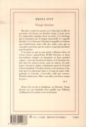 Visage slovène - 4ème de couverture - Format classique