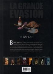 La grande évasion ; tunnel 57 - 4ème de couverture - Format classique