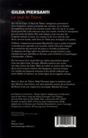 Le saut de Tibère - 4ème de couverture - Format classique