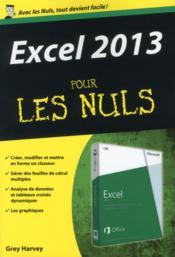 Excel 2013 pour les nuls - Couverture - Format classique