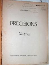 Précisions. - Couverture - Format classique