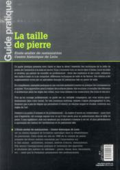 La taille de pierre (2e édition) - 4ème de couverture - Format classique