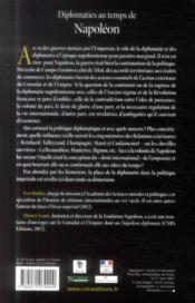 Diplomaties au temps de Napoléon - 4ème de couverture - Format classique