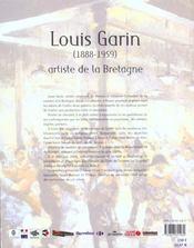 Louis garin ; artiste de la bretagne - 4ème de couverture - Format classique