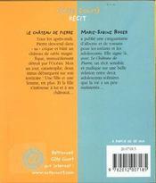Le Chateau De Pierre - 4ème de couverture - Format classique