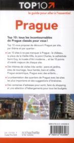 Top 10 ; Prague - 4ème de couverture - Format classique