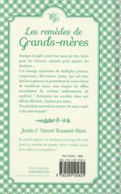 Les remèdes de grands-mères ; des recettes simples et efficaces ! - 4ème de couverture - Format classique