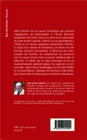Petit chemin de Saint-Cloud ou l'année d'agreg - 4ème de couverture - Format classique