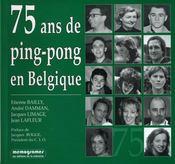 75 ans de ping-pong en Belgique - Couverture - Format classique