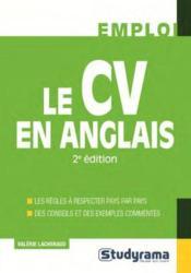 Le CV en anglais - Couverture - Format classique