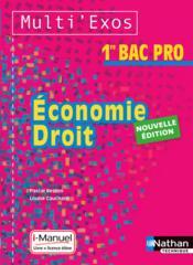 Économie droit ;1re bac pro ; livre + licence élève (édition 2015) - Couverture - Format classique