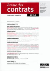 Revue Des Contrats N.2 - Couverture - Format classique