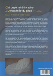 Chirurgie mini-invasive et percutanée du pied (2e édition) - 4ème de couverture - Format classique