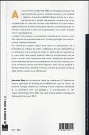 Schelling ; l'avenir de la raison ; rationalisme et empirisme dans sa dernière philosophie - 4ème de couverture - Format classique