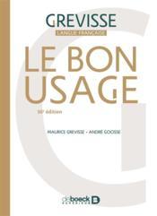 Le bon usage (16e édition) - Couverture - Format classique