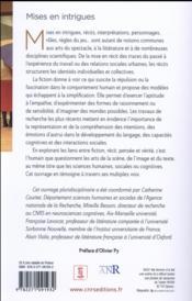 Mises en intrigues ; Avignon 2016 - 4ème de couverture - Format classique