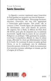 Petite vie de Sainte Geneviève - 4ème de couverture - Format classique