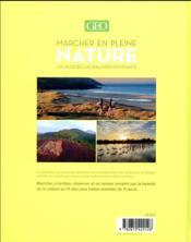 Marcher en pleine nature ; les plus belles balades en France - 4ème de couverture - Format classique