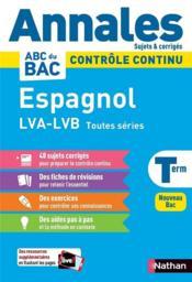 Annales ABC du bac ; sujets & corrigés ; espagnol : terminale (édition 2020) - Couverture - Format classique