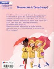 Une, deux, trois danseuses T.8 ; bienvenue à Broadway ! - 4ème de couverture - Format classique