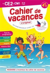 Cahier de vacances ; du CE2 au CM1 ; 8/9 ans - Couverture - Format classique