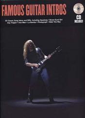 Famous guitar intros ; cd ; tablatures ; guitare - Intérieur - Format classique