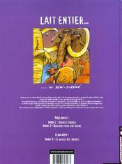 Lait entier t.2 ; requiem pour une vache - 4ème de couverture - Format classique