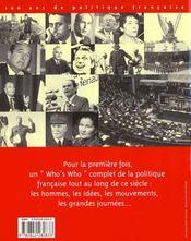Le dictionnaire politique du Xxème - 4ème de couverture - Format classique