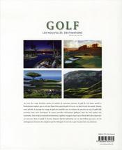 Golf ; les nouvelles destinations - 4ème de couverture - Format classique