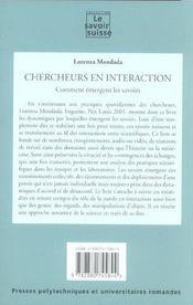 Chercheurs En Interaction : Comment Emergent Les Savoirs 28 - 4ème de couverture - Format classique