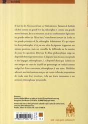Leibniz locke : une intrigue philosophique - 4ème de couverture - Format classique