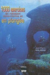 1000 exercices en natation sous-marine et en plongée - Couverture - Format classique