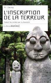 L'inscription de la terreur - Couverture - Format classique