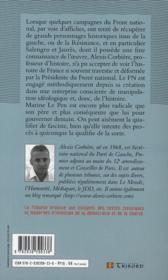Le parti de l'étrangère ; Marine Le Pen contre l'histoire républicaine de la France - 4ème de couverture - Format classique