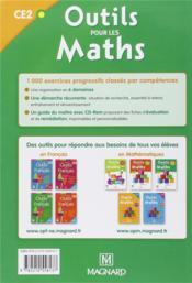 Outils pour les maths ; CE2 ; livre de l'élève (édition 2012) - 4ème de couverture - Format classique