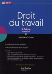 Droit du travail (9e édition) - Couverture - Format classique
