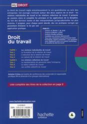 Droit du travail (9e édition) - 4ème de couverture - Format classique
