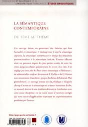 Semantique Contemporaine - 4ème de couverture - Format classique