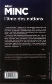L'âme des nations - 4ème de couverture - Format classique