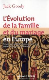 L'évolution de la famille et du mariage en Europe - Couverture - Format classique