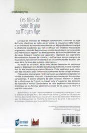Les filles de saint Bruno au Moyen Age - 4ème de couverture - Format classique