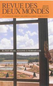 Revue Des Deux Mondes ; Versailles Méconnu - Couverture - Format classique