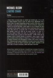 L'autre chair - 4ème de couverture - Format classique