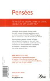 Pensées - 4ème de couverture - Format classique