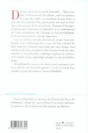 Contretemps ; La Philosophie Cannibale ; La Théorie Du Mensonge, De La Mutilation Ou L'Appropriation Totalitaire Chez Derrida, Deleuze - 4ème de couverture - Format classique